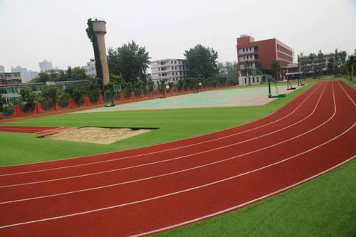 学校跑道手绘图